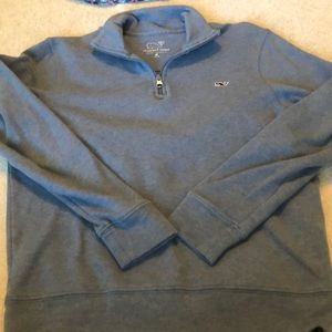 Vineyard Vines Shirts & Tops - Vineyard Vines boys quarter zip blue youth M 12-14